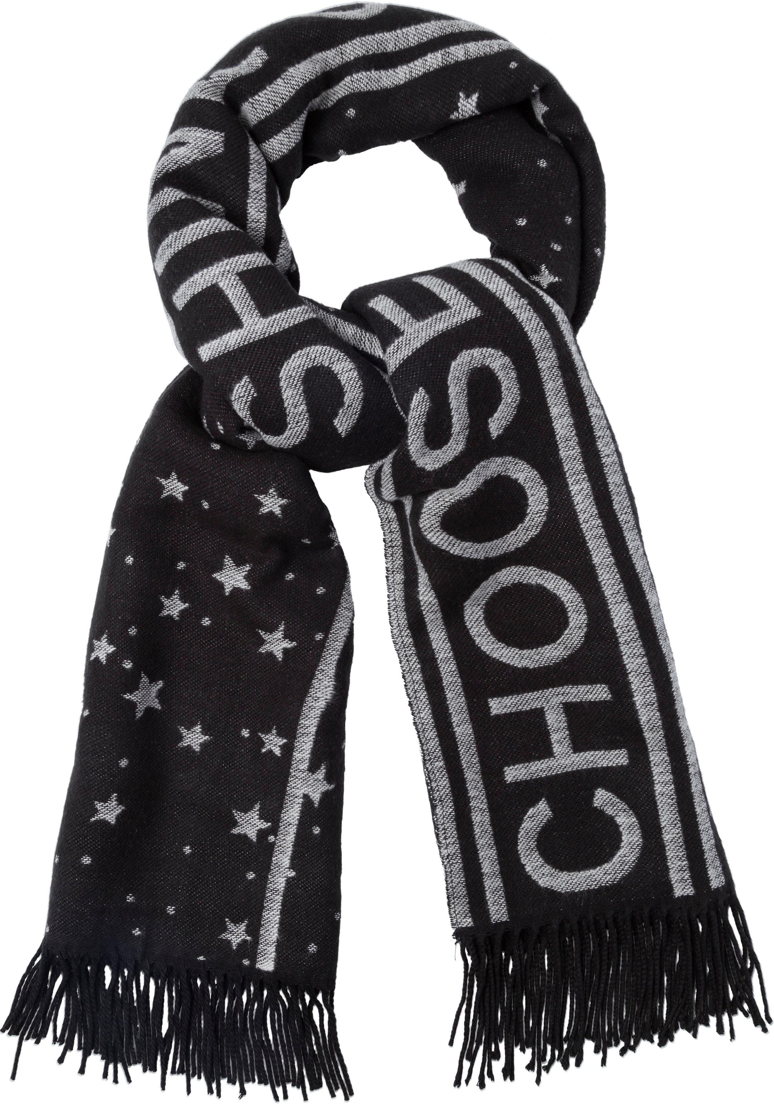 Esprit Modeschal mit Sternemuster und Fransen