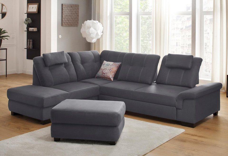 home affaire ecksofa sven wahlweise mit ottomane bettfunktion bettkasten. Black Bedroom Furniture Sets. Home Design Ideas