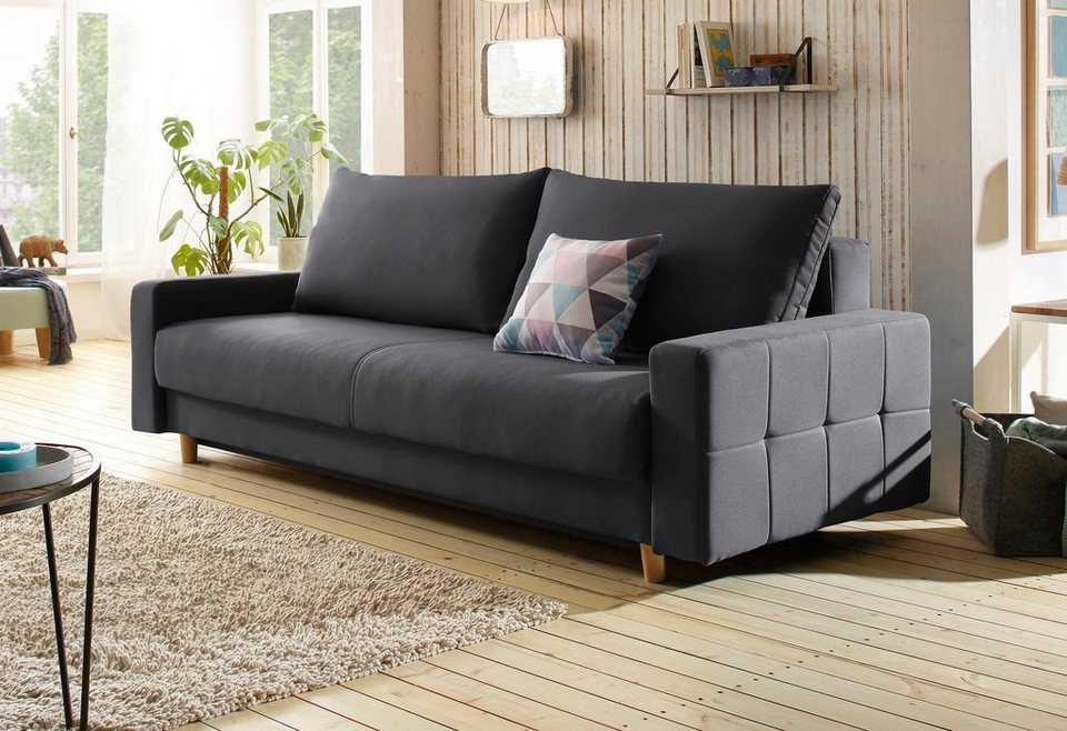 home affaire schlafsofa padua mit zierkissen incl bettkasten und federkern online kaufen otto. Black Bedroom Furniture Sets. Home Design Ideas