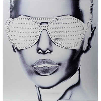 KARE Dekoobjekt »Bild Alu Cool Girl 120x120cm«