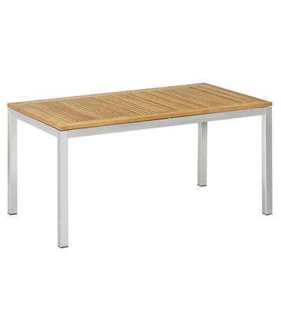 Dehner Gartentisch »Toulouse, 152 x 90 x 75 cm, FSC® Holz/Edelstahl«