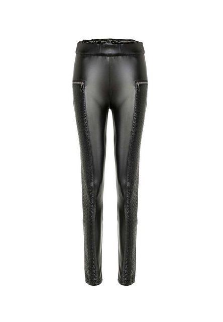 Hosen - Cipo Baxx Leggings in Leder Optik mit Zippern ›  - Onlineshop OTTO