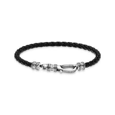 THOMAS SABO Armband »A1931-682-11 Lederarmband Herren Karabiner Sterling-Silber 17 cm«