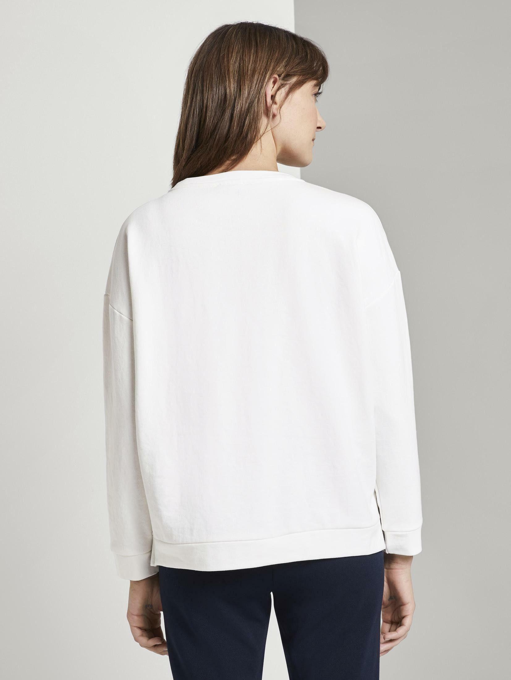 TOM TAILOR Sweater Sweatshirt mit Schrift-Print