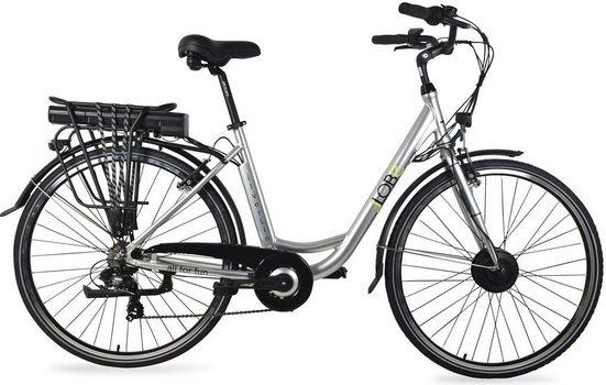 LLobe E-Bike »SilverLine«, 7 Gang Shimano, Kettenschaltung, Frontmotor 250 W