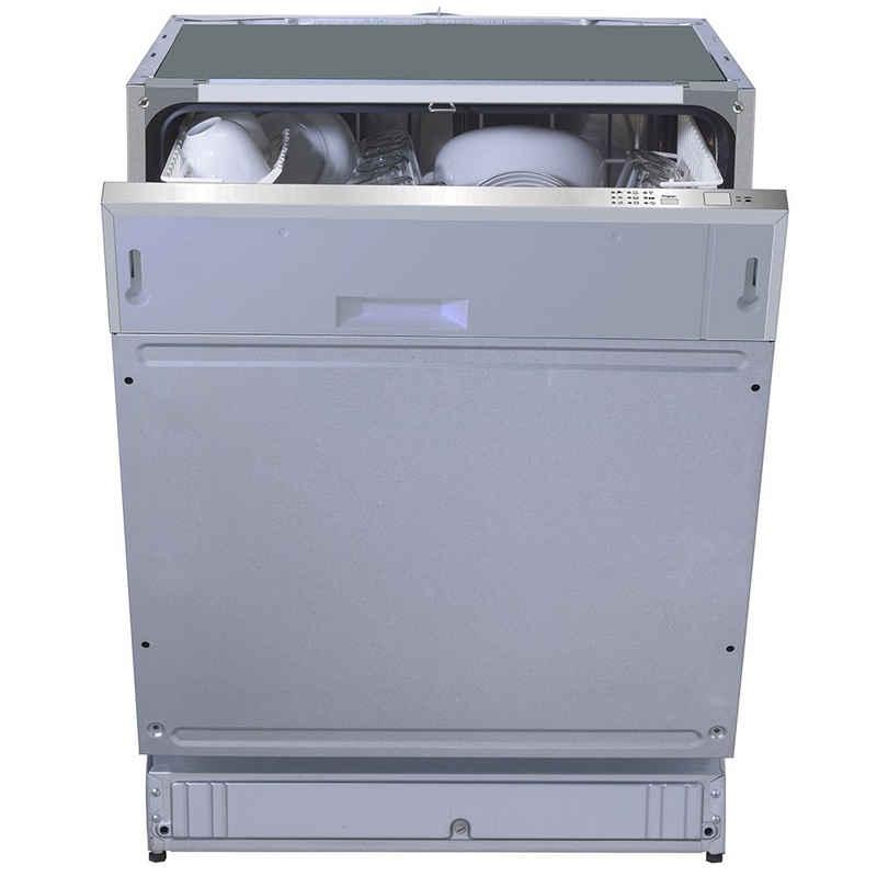 PKM vollintegrierbarer Geschirrspüler, DW12-6FI, Spülmaschine Spüler 12 Gedecke 60 cm