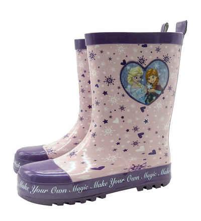 Disney Frozen Gummistiefel Mädchen Stiefel Frozen Anna Elsa Die Eiskönigin rosa Regenstiefel Schuhe rosa