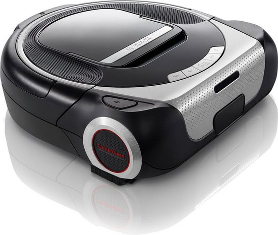 BOSCH Saugroboter Roxxter Serie 6, BCR1ACDE, silber/schwarz, 60 Watt, Navigationssystem, APP-Steuerung mit Home Connect, interaktive Raumauswahl, virtuelle No-Go-Zones