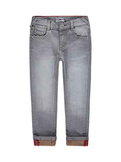 Esprit 5-Pocket-Jeans »Jeans mit variablen Turn-ups und Verstellbund«