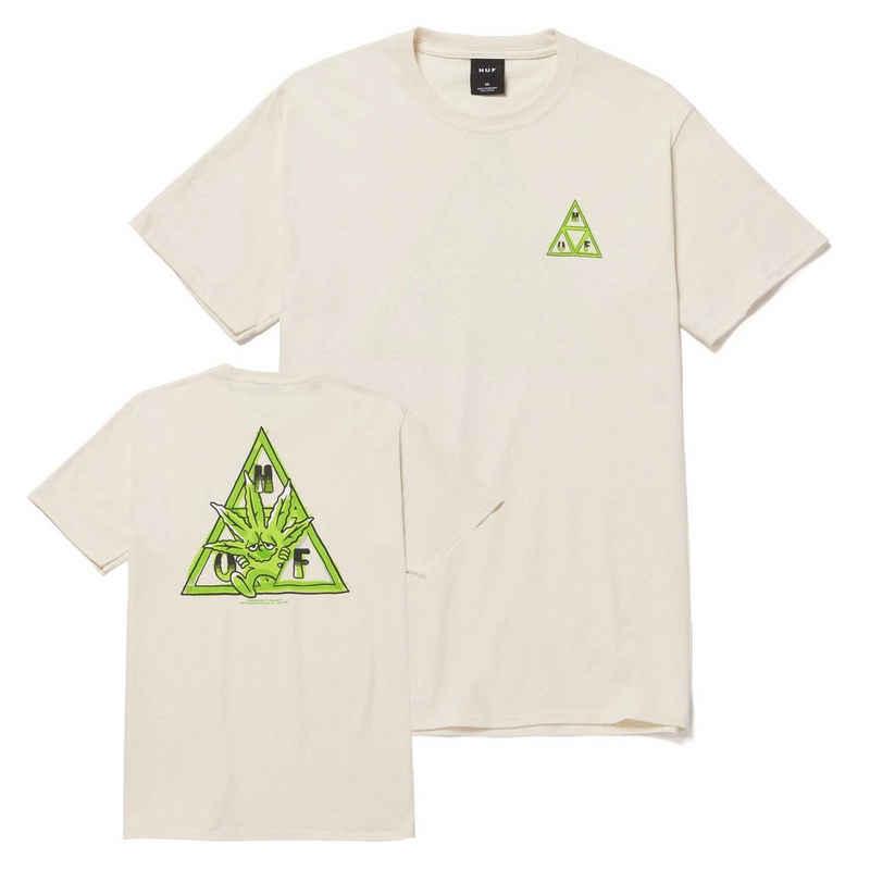 HUF T-Shirt »Green Buddy Triple Triangle - natural«