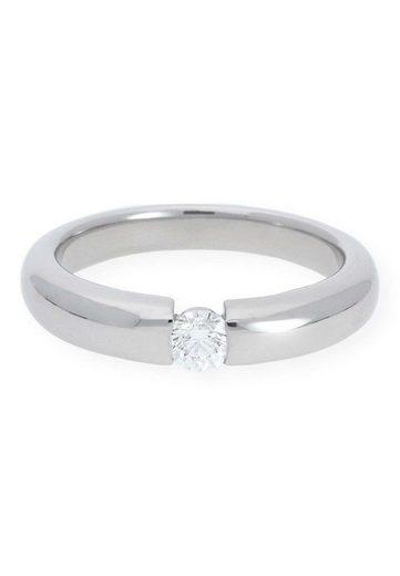 JuwelmaLux Diamantring »Verlobungsring Gold Damen und Herren« (1-tlg), Weißgold 750/000, inkl. Schmuckschachtel