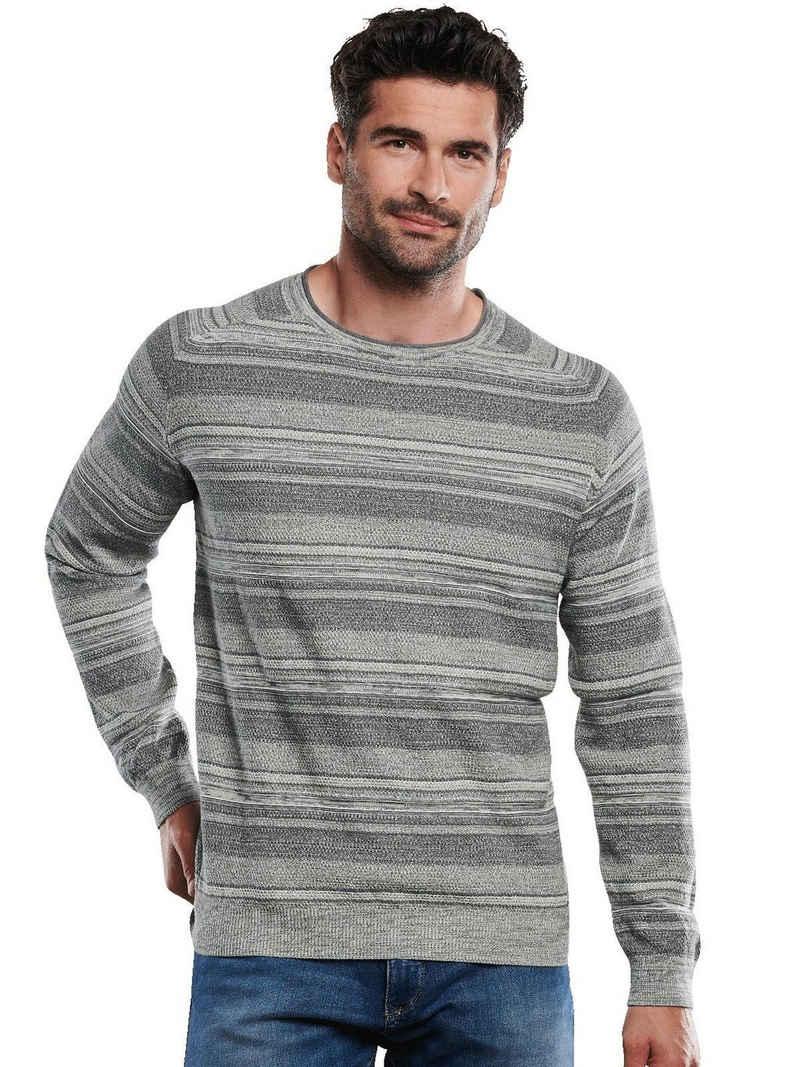 Engbers Rundhalspullover »Pullover gestreift«