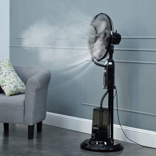in.tec Standventilator, »Ninove« Nebelventilator Luftkühler 75W mit Sprühnebelfunktion Schwarz