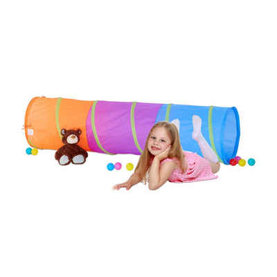 relaxdays Spieltunnel »Farbenfroher Spieltunnel für Kinder«