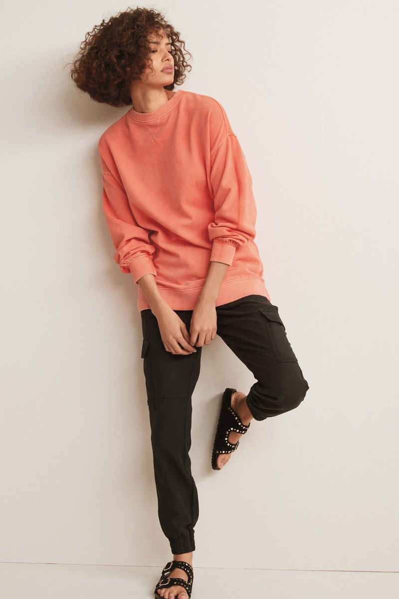 Next Sweatshirt »Langes vorgewaschenes Sweatshirt« (1-tlg)