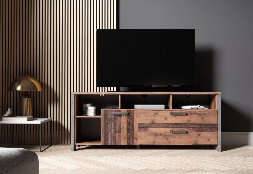 Newroom Lowboard »Kane«, TV Board Old Wood Wildeiche ...
