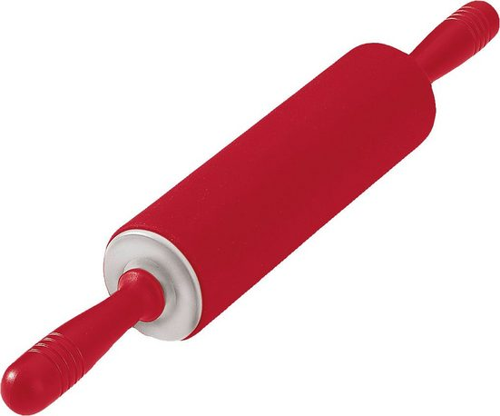 "Kaiser Backformen Teigroller »Silikon Teigrolle ""Flex Red"" mit Metallachse 68 mm«"