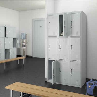 Oskar Geräteschrank »Schließfachschrank Spind Metall Schrank Metallspind Umkleideschrank 9 Fächer«
