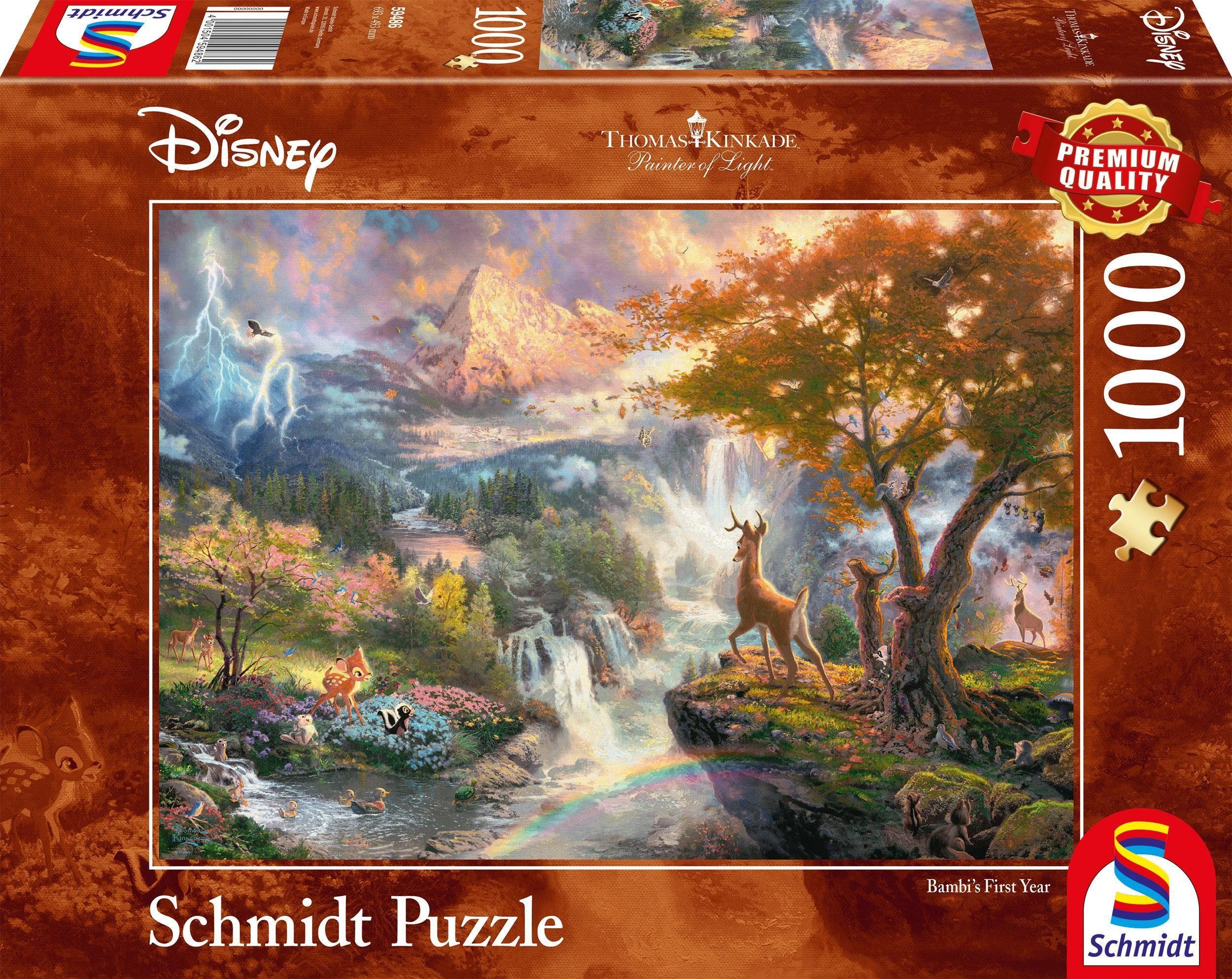 Schmidt Spiele Puzzle »Disney, Bambi«, 1000 Teilig