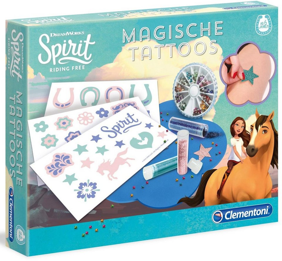 Clementoni Kreativset,  Spirit, Magische Tattoos