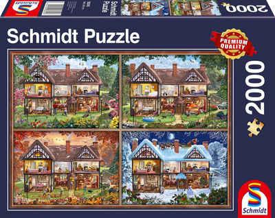 Schmidt Spiele Puzzle »Jahreszeiten Haus«, 2000 Puzzleteile, Made in Germany