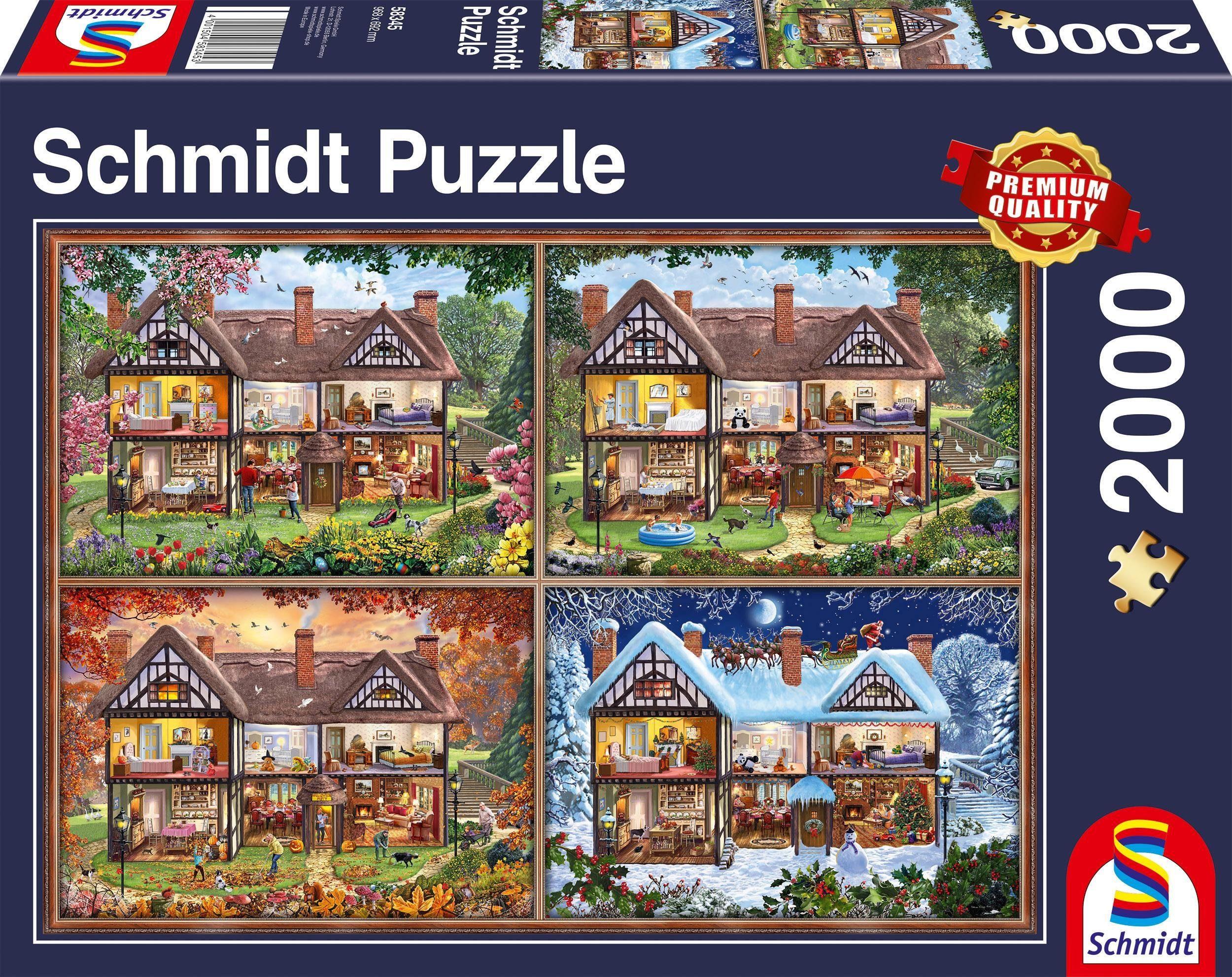 Schmidt Spiele Puzzle »Jahreszeiten Haus«, 2000 Teilig
