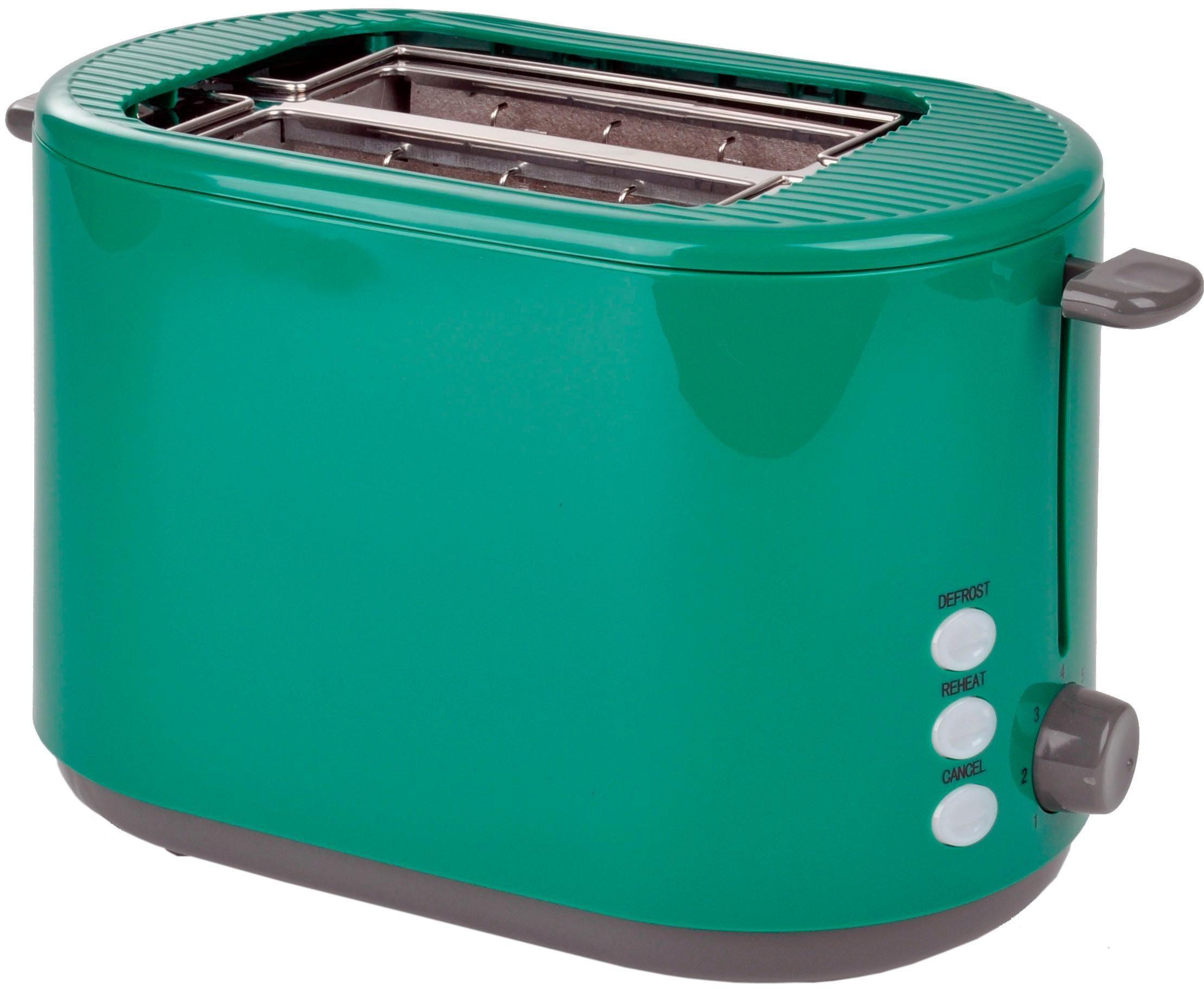 Efbe-Schott Toaster SC TO 1080.1 GRN, 2 kurze Schlitze, für 2 Scheiben, 800 W
