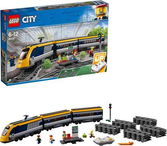 LEGO® Konstruktionsspielsteine »Personenzug (60197), LEGO® City«, (677 St)