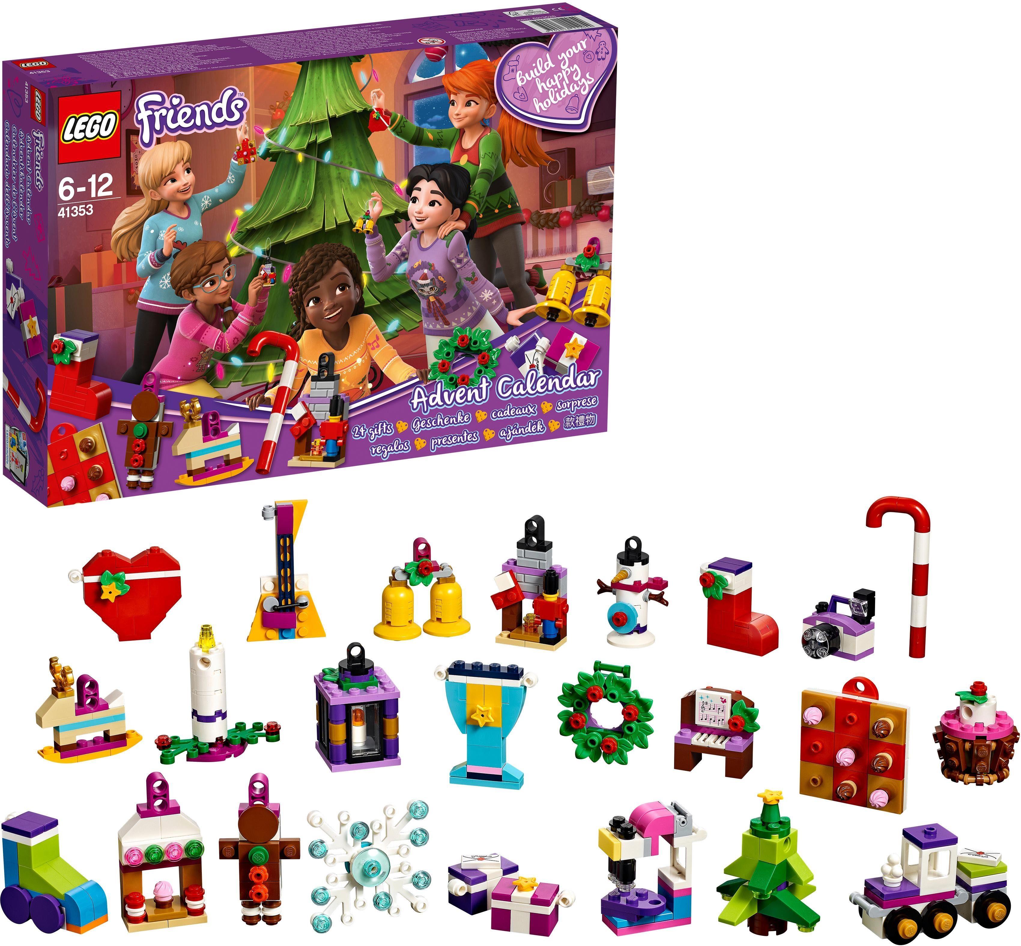 LEGO® LEGO® Friends Adventskalender mit Weihnachtsschmuck (41353), »LEGO® Friends«