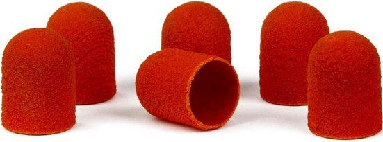 BAUSCH Hornhautentferner Schleifkappen, Packung, 12-St., für Gummiträger in braun oder orange