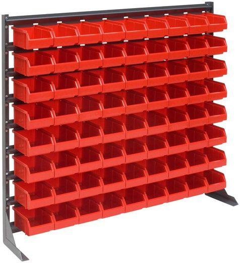 RAMSES Kleinteile-Schüttenregal , mit 72 Lagerboxen