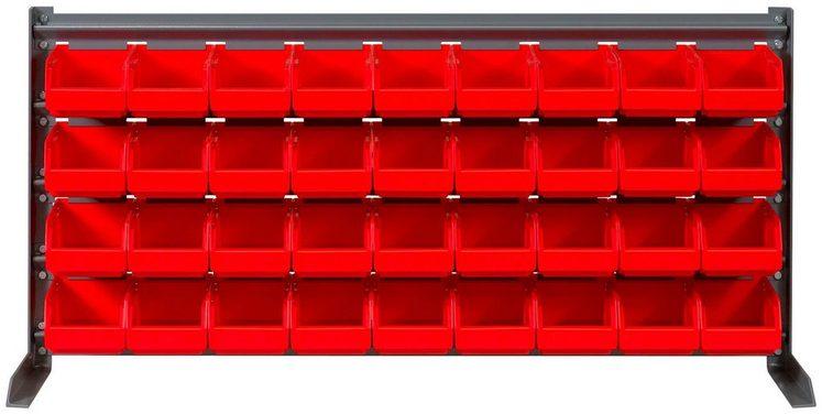 RAMSES Kleinteile-Schüttenregal , mit 36 Lagerboxen