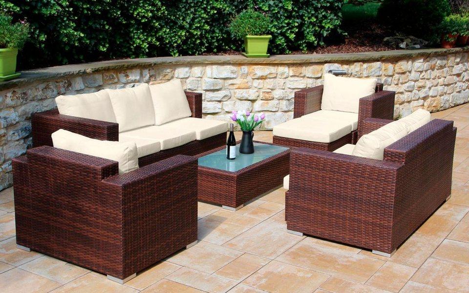 Baidani loungeset daylight 3er sofa 2er sofa 2 sessel for Sofa 2er 3er