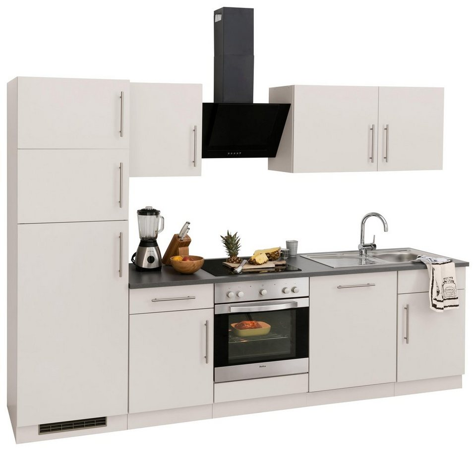 k chenzeile cali mit e ger ten und k hl. Black Bedroom Furniture Sets. Home Design Ideas