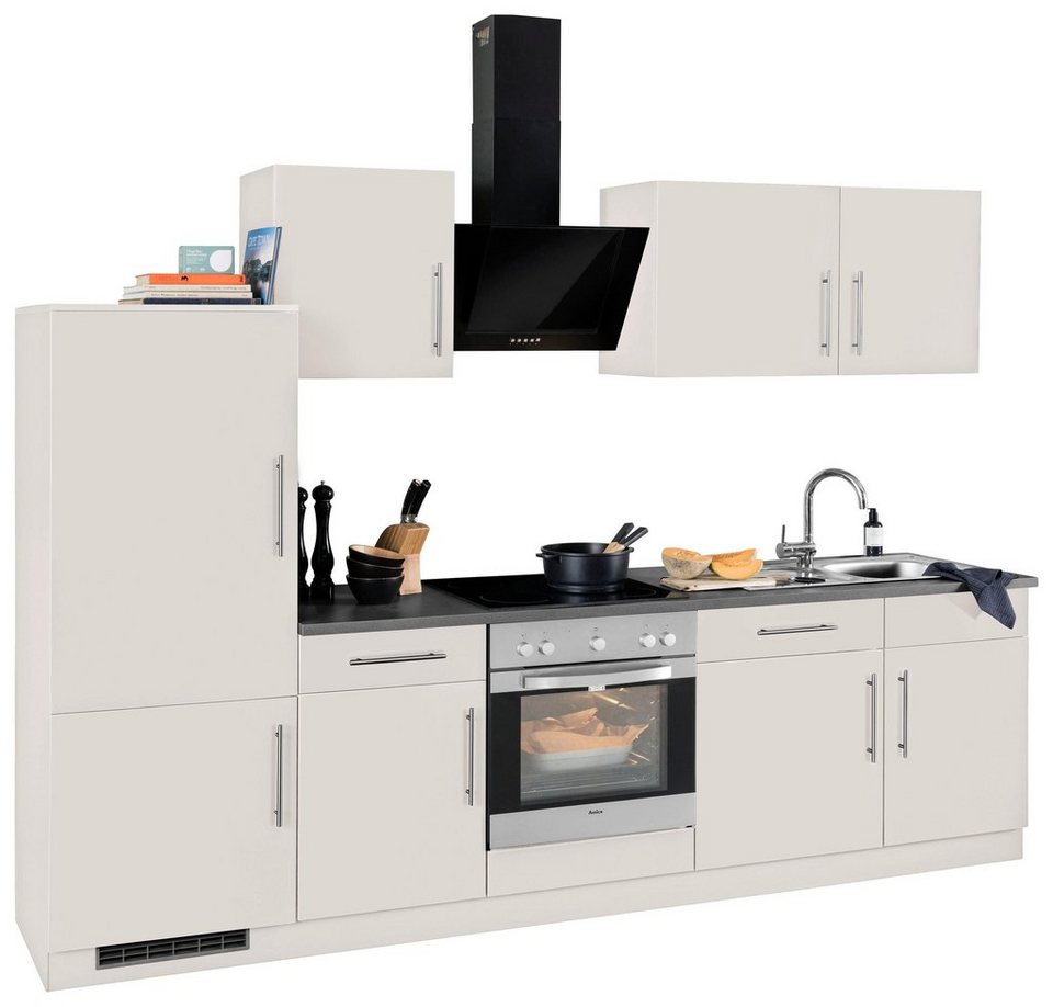 wiho k chen k chenzeile cali mit e ger ten breite 280. Black Bedroom Furniture Sets. Home Design Ideas