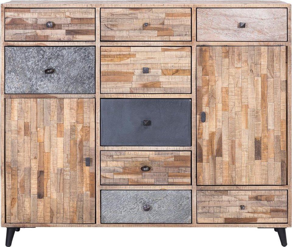 The Wood Times Kommode Kean Aus Recyceltem Teakholz Breite 125 Cm