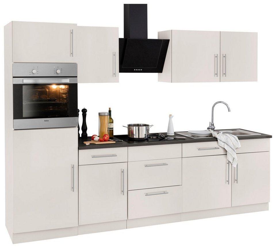 k chenzeile cali mit e ger ten breite 280 cm bestehend aus 14 teilen online kaufen otto. Black Bedroom Furniture Sets. Home Design Ideas