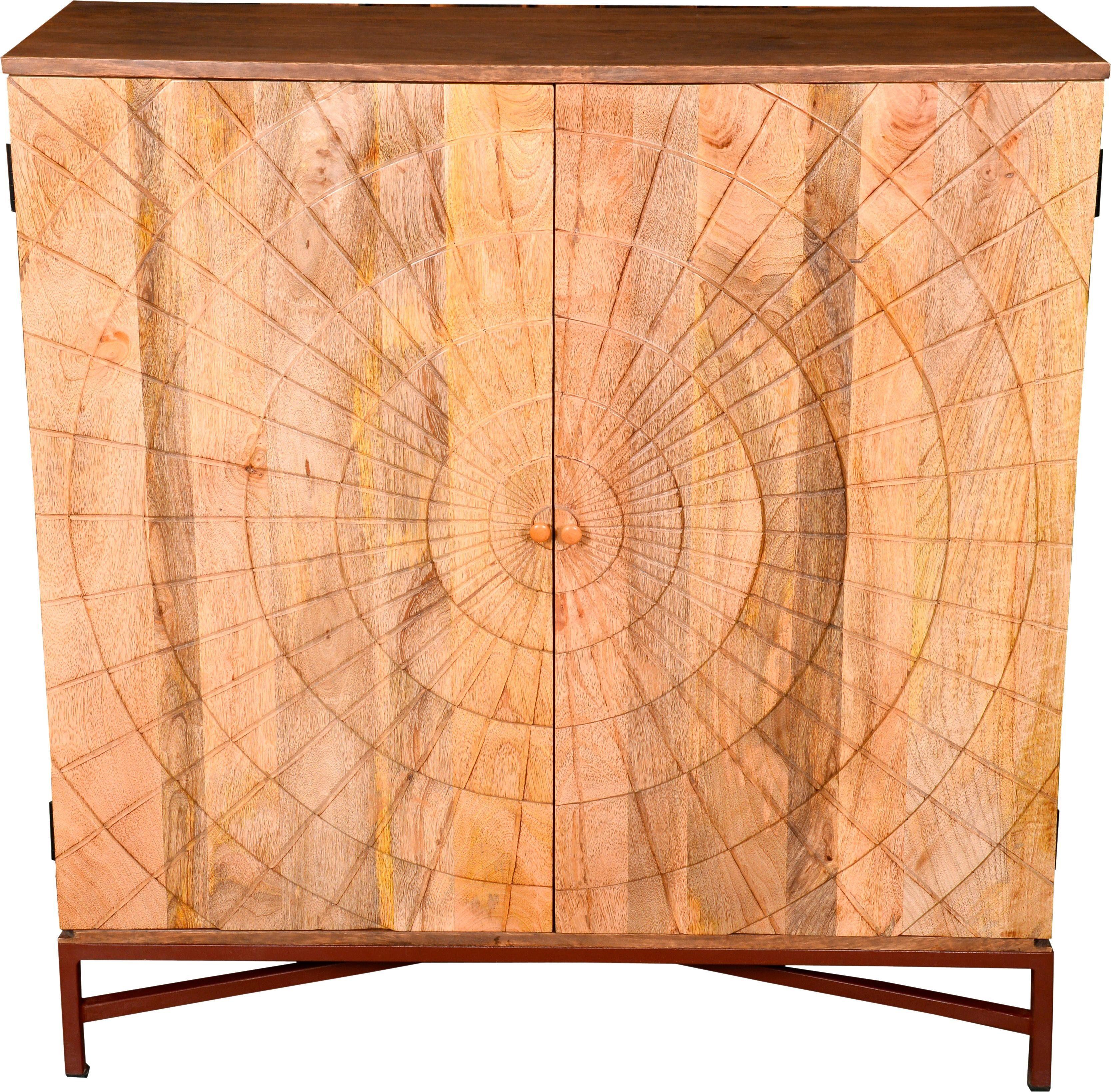The Wood Times Weinschrank »Sunny«, Breite 95 cm