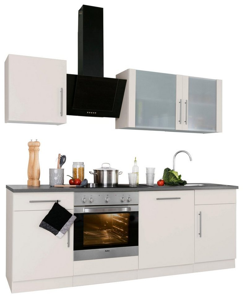wiho k chen k chenzeile cali mit e ger ten breite 220. Black Bedroom Furniture Sets. Home Design Ideas