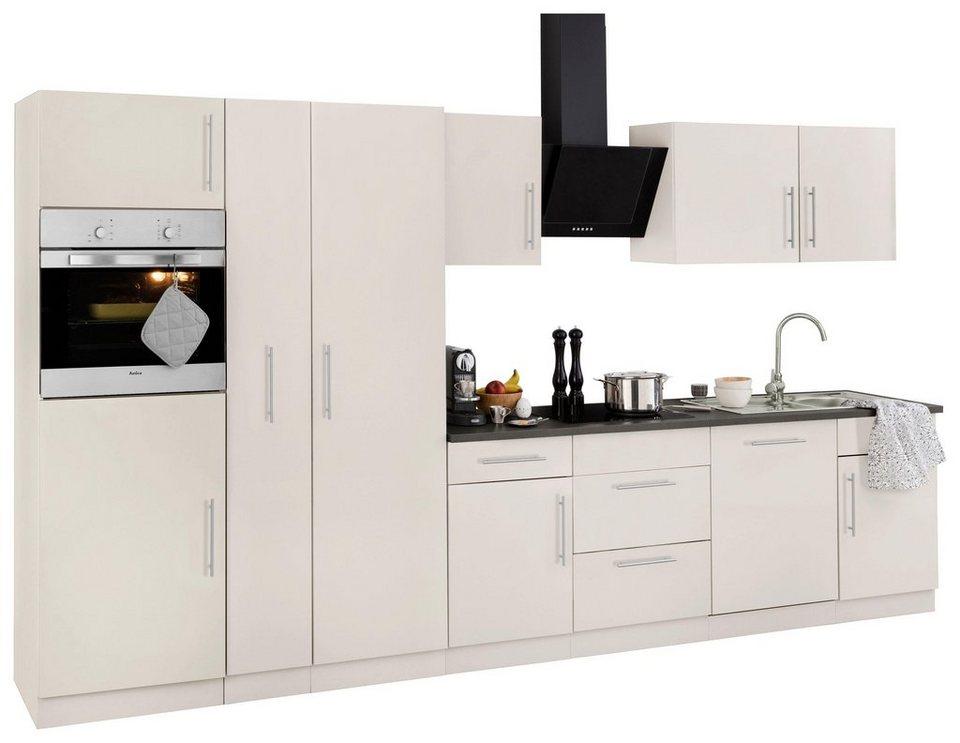 k chenzeile cali mit e ger ten breite 360 cm mit metallgriffen online kaufen otto. Black Bedroom Furniture Sets. Home Design Ideas