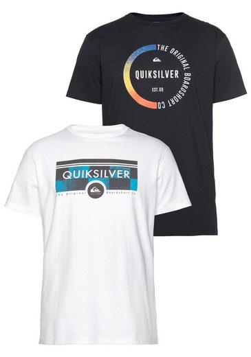 Quiksilver T-Shirt »FLAXTON PACK« (Packung, 2-tlg., 2er-Pack)