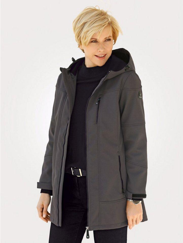 Damen Mona Softshell-Jacke mit Wassersäule bis 8.000 mm grau   04055716996112