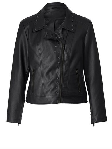 Angel of Style by Happy Size Lederimitat-Jacke im Biker-Look