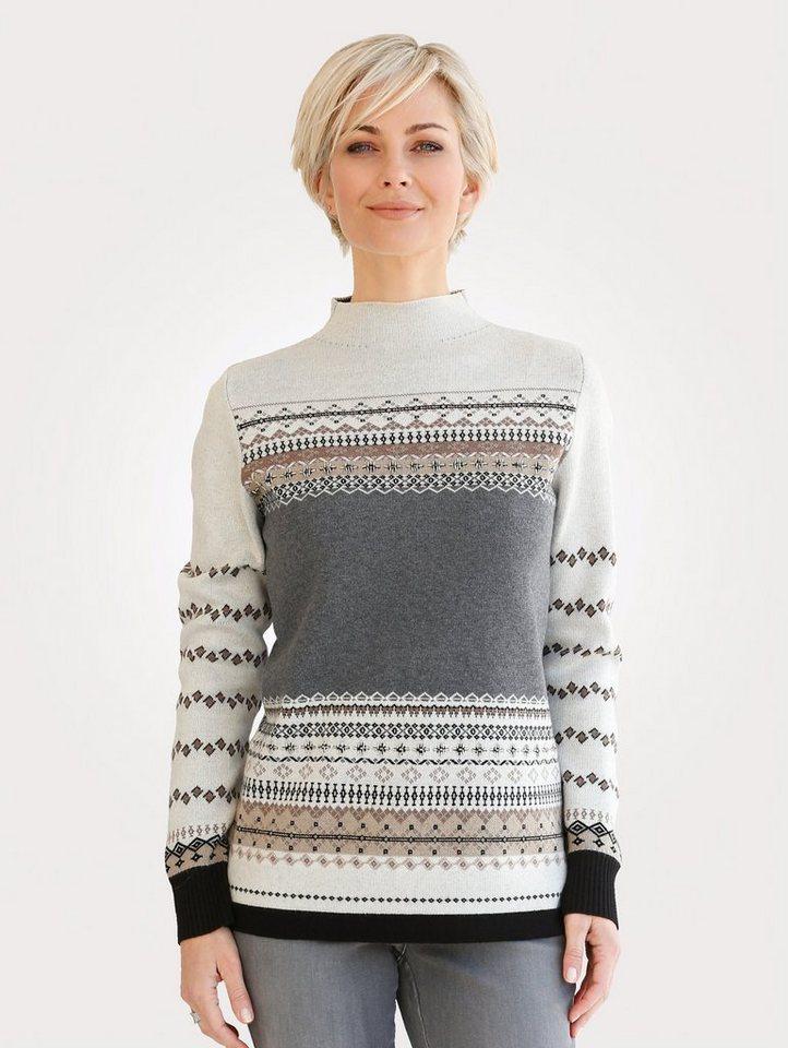 Damen Mona Pullover im Norweger-Stil braun   04055717293258
