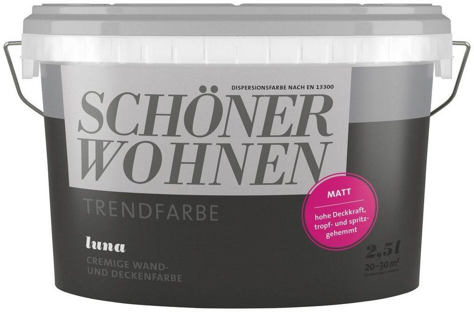 SCHÖNER WOHNEN FARBE Wand  Und Deckenfarbe »Trendfarbe Luna, Matt«, 2,