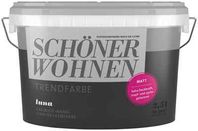 SCHONER WOHNEN FARBE Wand Und Deckenfarbe Trendfarbe Luna Matt 2