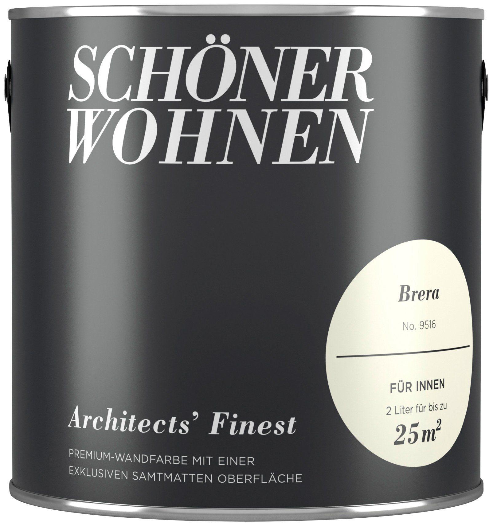 SCHÖNER WOHNEN FARBE Wand- und Deckenfarbe »Architects' Finest - Brera«, 2 l