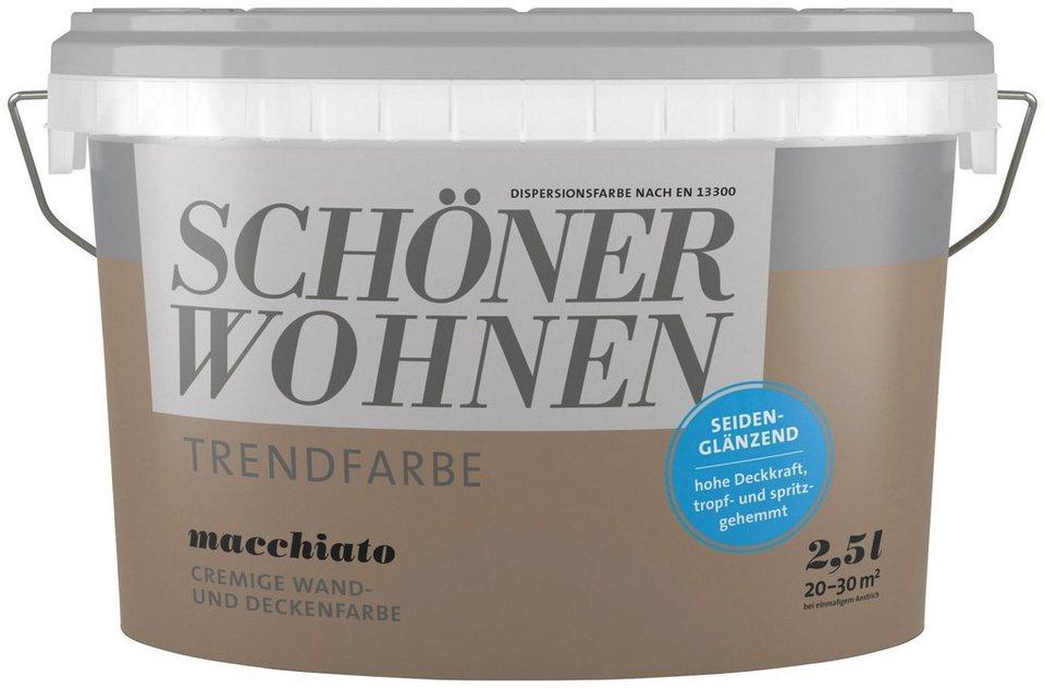 SCHÖNER WOHNEN FARBE Wand  Und Deckenfarbe »Trendfarbe Macchiato,  Seidenglänzend«, 2,
