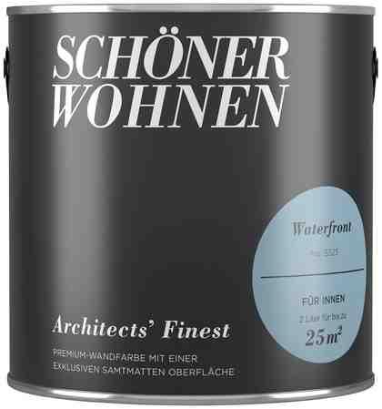 SCHÖNER WOHNEN FARBE Wand- und Deckenfarbe »Architects' Finest - Waterfront«, 2 l