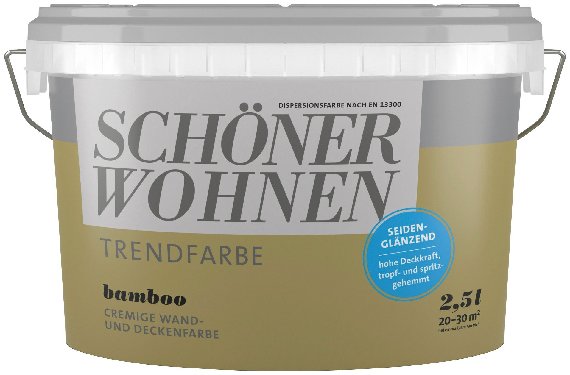 SCHÖNER WOHNEN FARBE Wand- und Deckenfarbe »Trendfarbe Bamboo, seidenglänzend«, 2,5 l